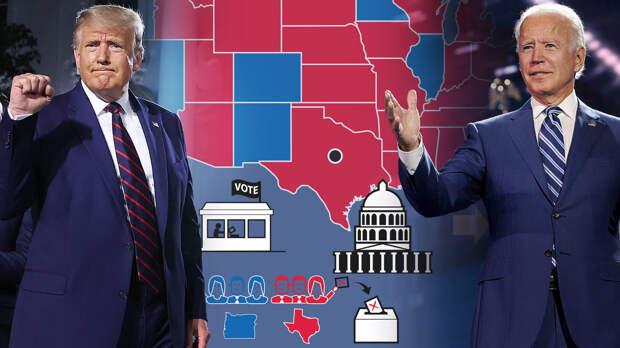 Новости из США о подсчёте голосов за Трампа и Байдена