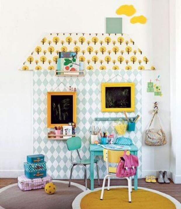 Домики  в детской комнате