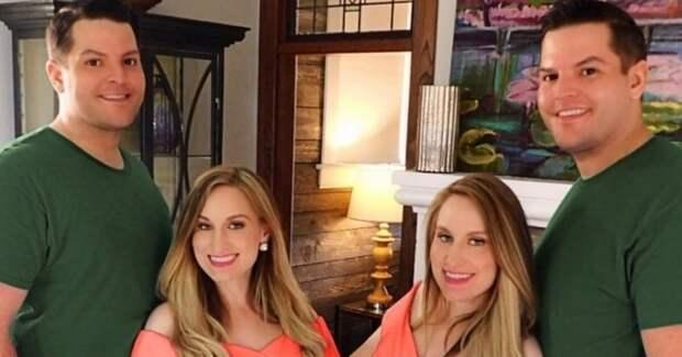 Сестры-близнецы, которые вышли замуж за братьев-близнецов, скоро одновременно станут мамами