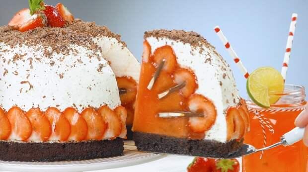 Фруктовый торт «Клубника со сливками»: красивый нежный десерт своими руками