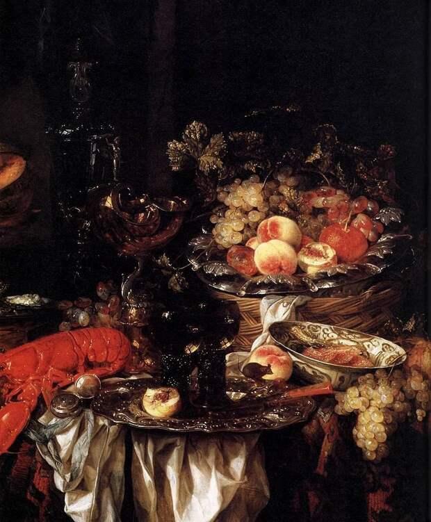 Абрахам ван Бейерен (ок. 1620 — 1690) — голландский художник XVII века, мастер натюрмортов с посудой и фруктами, иногда с цветами, рисовал также морские пейзажи. голландские натюрморты, живопись, искусство, красота, цветы