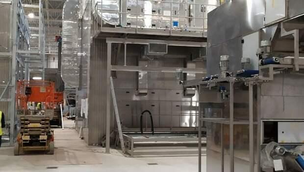 На новом хлебобулочном заводе «Коломенский» начали устанавливать оборудование