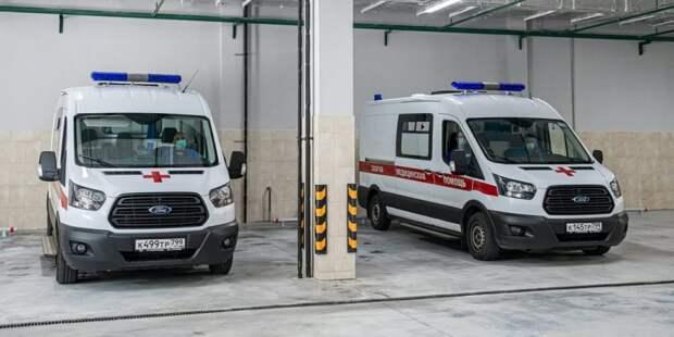 Собянин осмотрел строящийся корпус скорой помощи в ГКБ им. Вересаева Фото: М. Мишин mos.ru