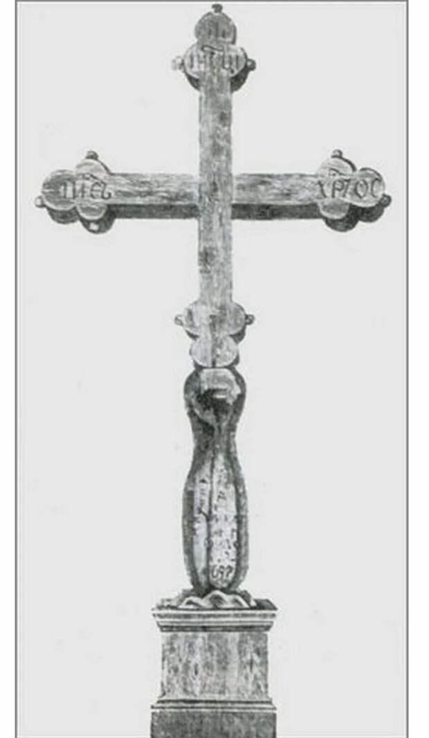 Уникальная реликвия. Крест Петра I, вырезанный им собственноручно в память о спасении