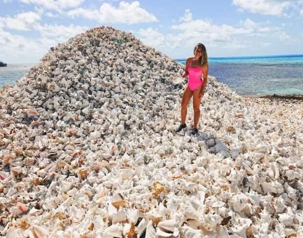 Уникальный искусственный остров, находящийся в Карибском море