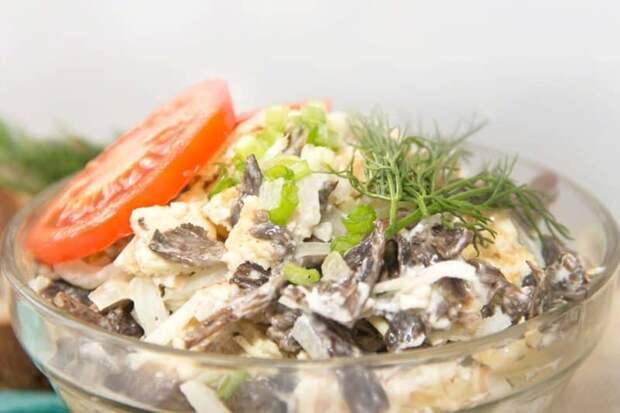 Салат Сеньора. Оригинальный салатик с печенью и грибами 4