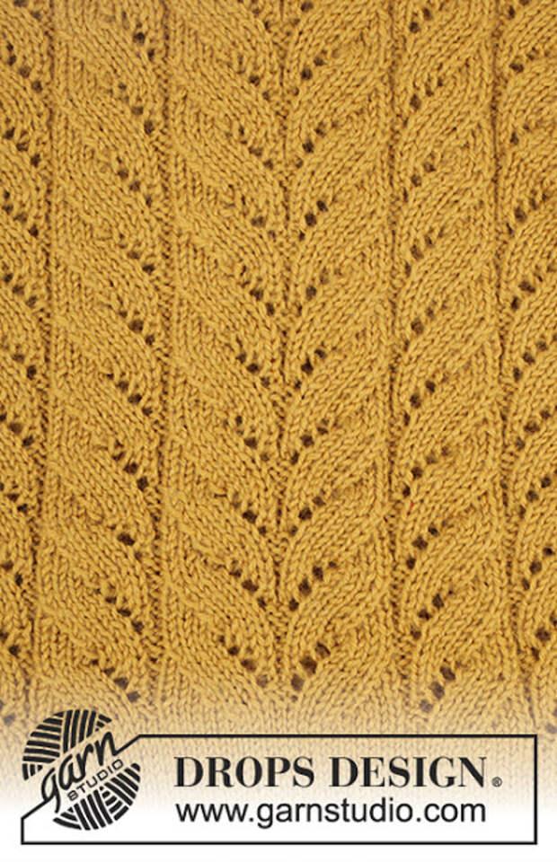 Жакет Cornfield спицами от Drops Design