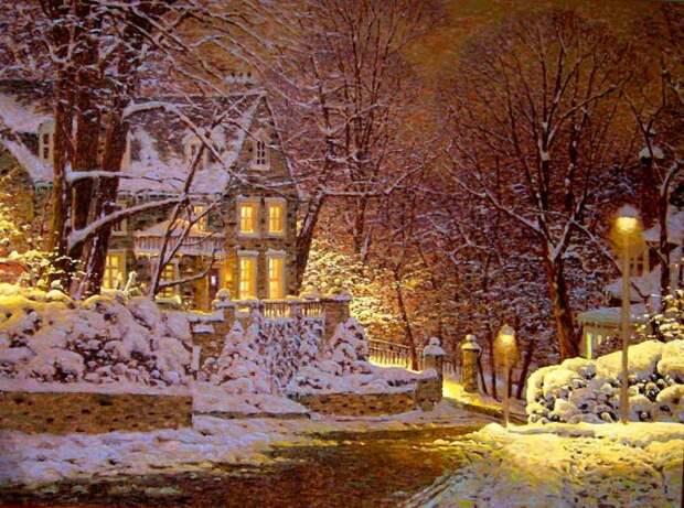 Художник Ричард Савойя и его снежная пастель