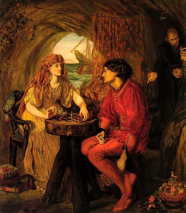 Люси Мэдокс Браун, «Фердинанд и Миранда играют в шахматы», 1871.