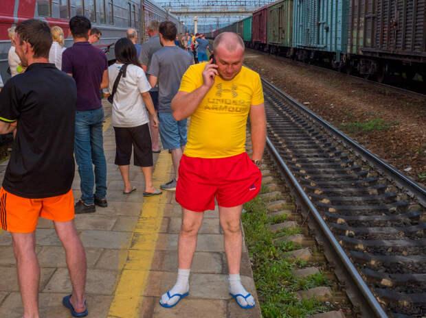 Типичная короткая остановка поезда
