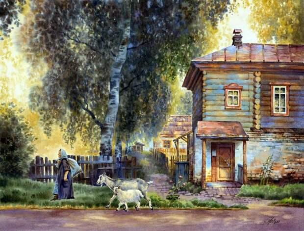 Приезжайте в деревню на лето! Художница Ольга Ивлева