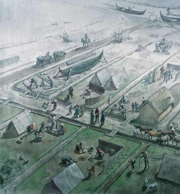 Иллюстрации быта викингов.