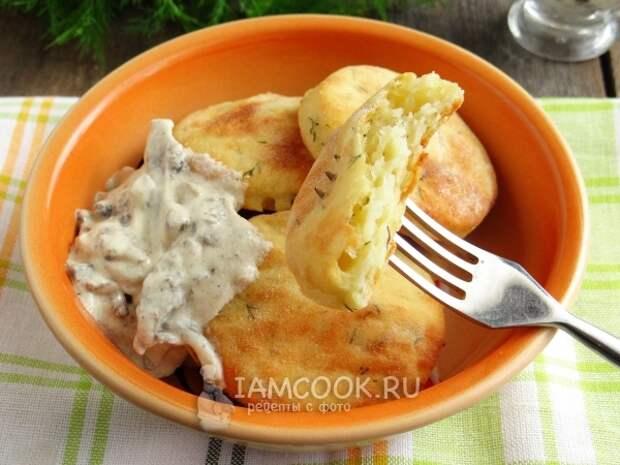 Кусочек картофельной лепешки