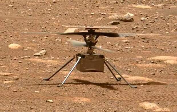«Марсианский» вертолет Ingenuity успешно совершил свой первый полет на Красной планете