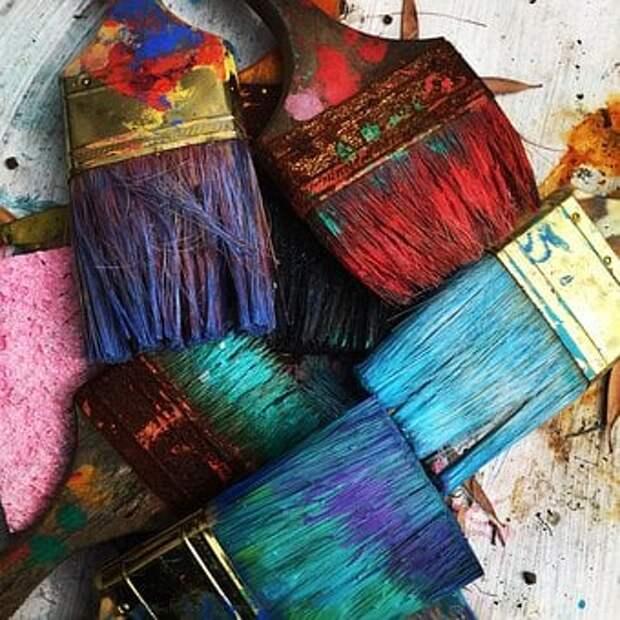 Искусство, Кисти, Красочные, Краска