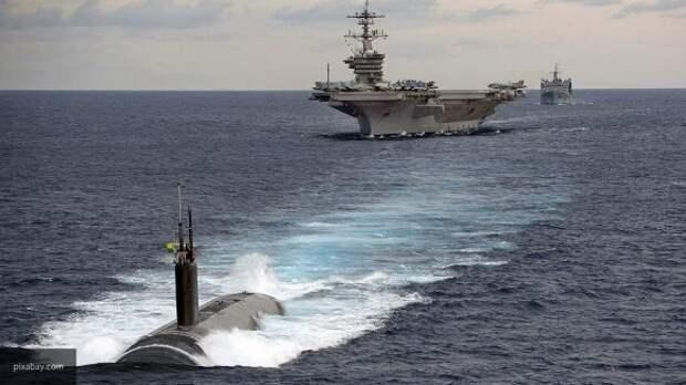 Военный флот США заблокировал в Атлантике условную атомную субмарину России