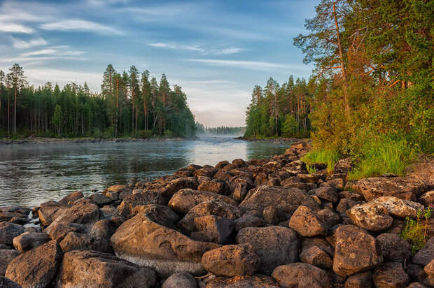 Невероятно изящные и спокойные природные пейзажи Карелии
