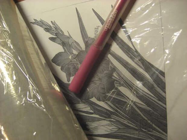 Как перенести рисунок на зеркало, стекло, фарфор. Оригинальная идея