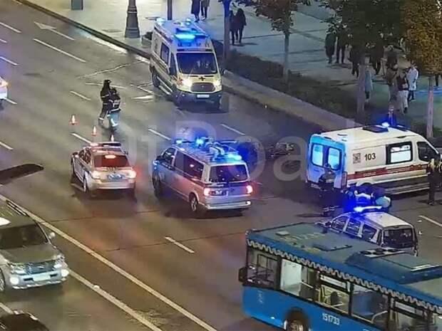 Движение восстановили на Садовом кольце после ДТП с машиной и мотоциклом