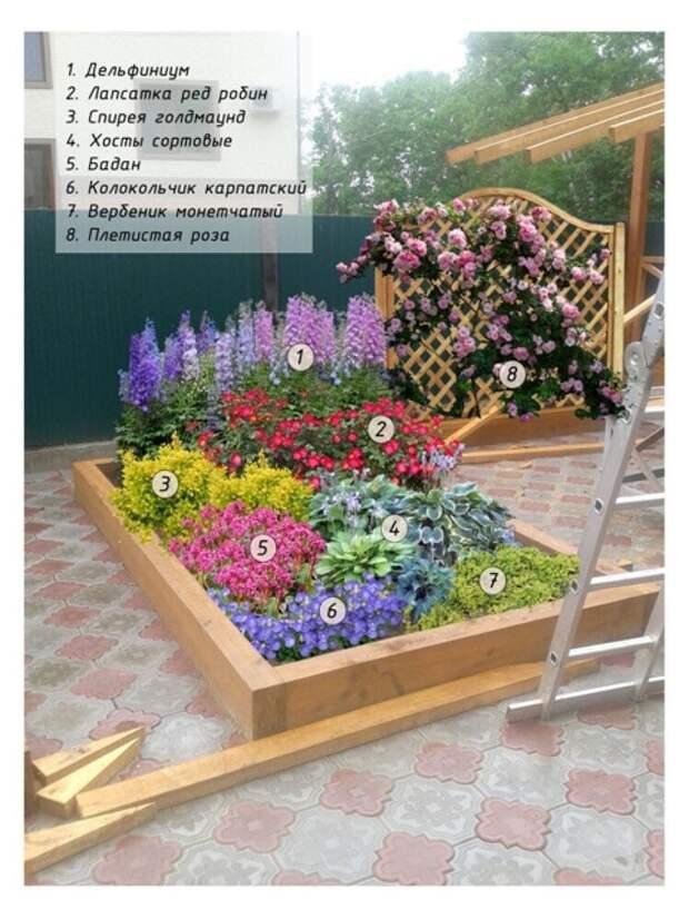 Идеи цветочных клумб😊 Напишите в комментариях какая Вам больше понравилась😊