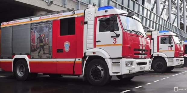 Пожарные ликвидировали возгорание на Лужской