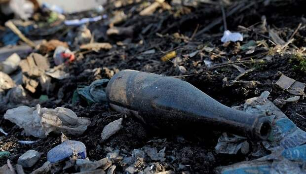 В микрорайоне Дубровицы убрали незаконную свалку мусора