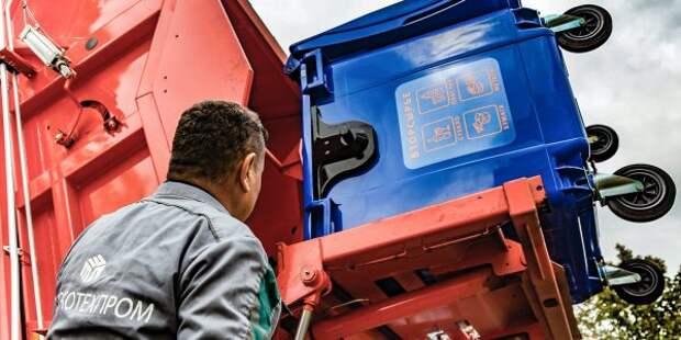 Мусорный контейнер на Ленинградском шоссе вывезли по заявке