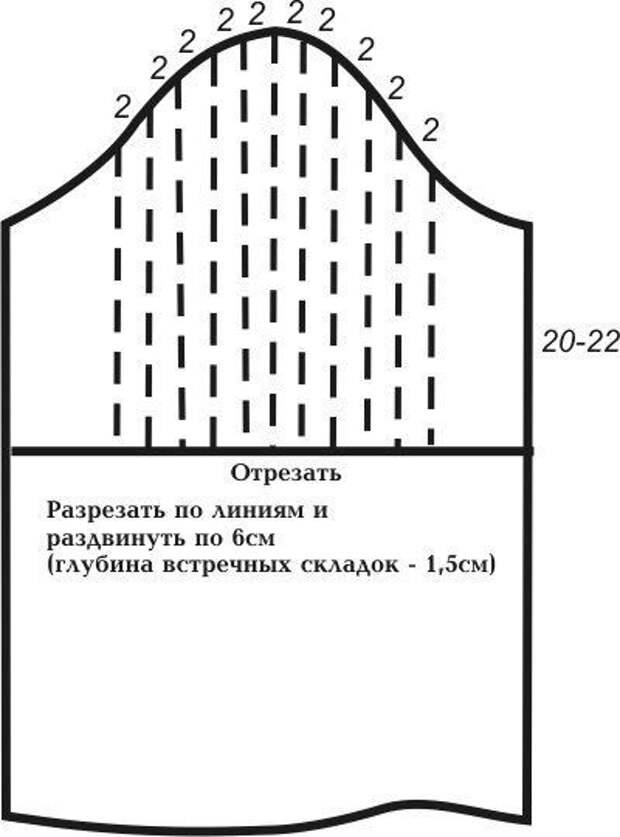 Моделирование блузки с рукавом-фонарик