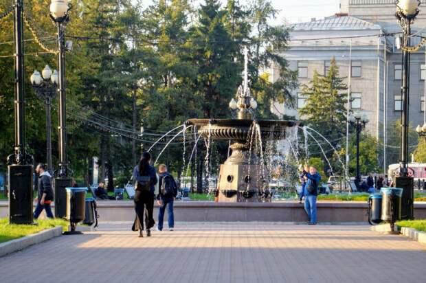 Фонтаны в Иркутске готовят к запуску