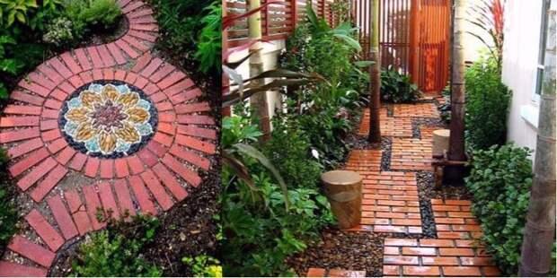 Необычный декор обычными КИРПИЧАМИ: 10 умных идей для дачи и сада!
