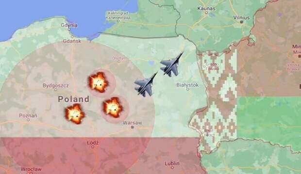 Победа только за Минском: в США наглядно показали сценарий войны Польши и Беларуси