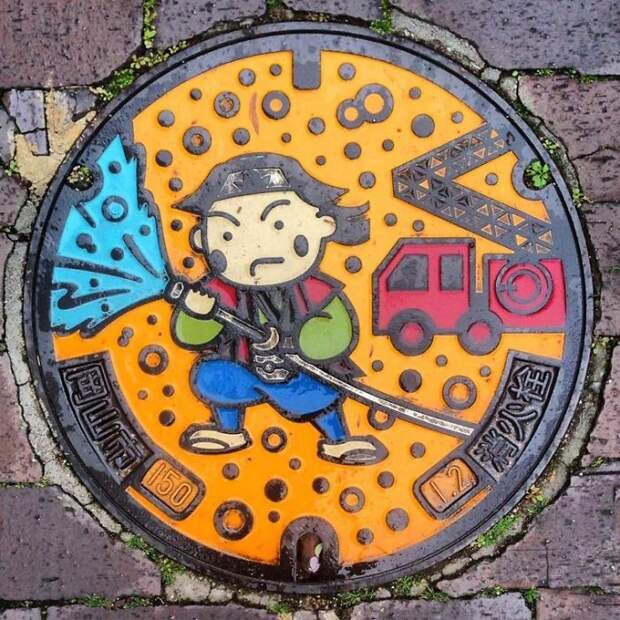 Канализационные люки в Японии дизайн, канализация, люк, япония