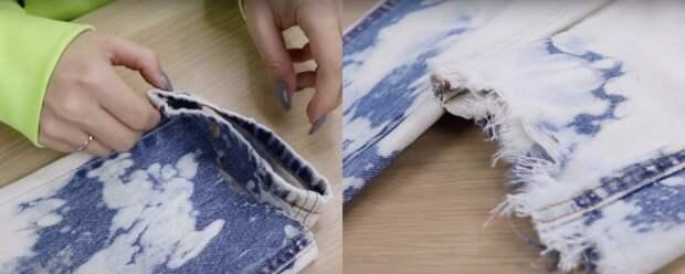 Из заурядных и надоевших в яркие и оригинальные: переделка джинс