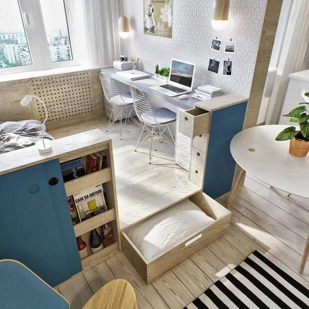 Дизайн и планировка для маленькой комнаты