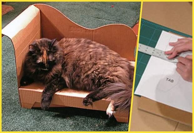 мебель из картона для кошки