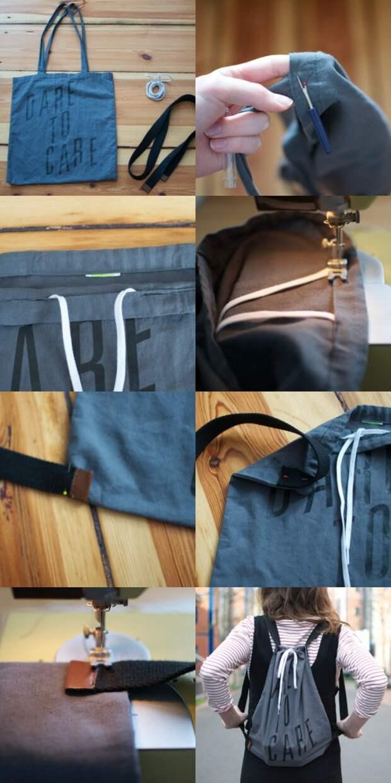 Рюкзачок из сумки (DIY)