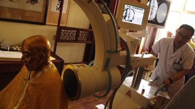 Органы и мозг внутри 1000-летней статуи буддийского монаха еще живы