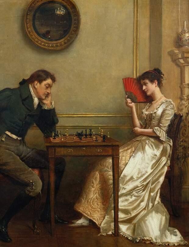 Джордж Гудвин Килберн, «Шахматная партия», конец XIX – начало XX века.