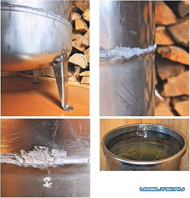 Бачок для холодной воды в баню