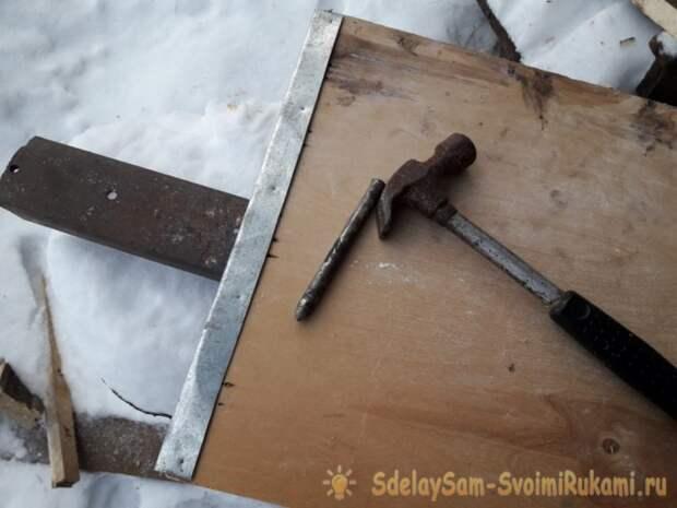 Деревянная лопата для снега своими руками
