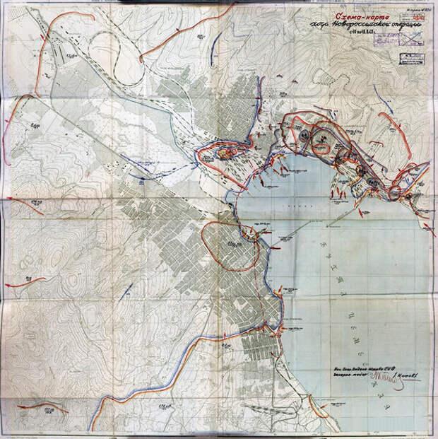 А вот Советские карты операции.