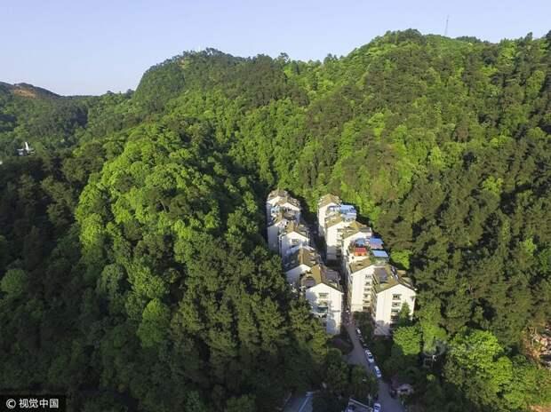 Экологически чистый район китайского города Гуйян дома, китай, район