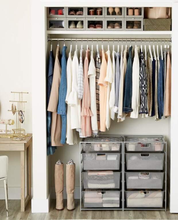 Грамотное хранение вещей в шкафу: 10 полезных советов