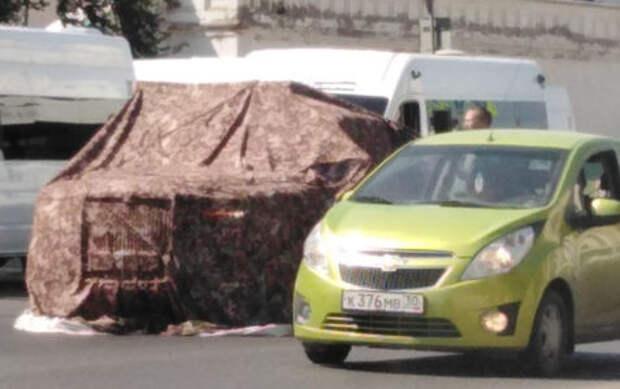 От маршрутки не увернуться: первое ДТП с Аурусом