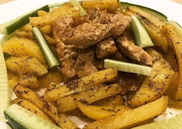 Свинина в горчичном соусе с картофелем в духовке recipe main photo