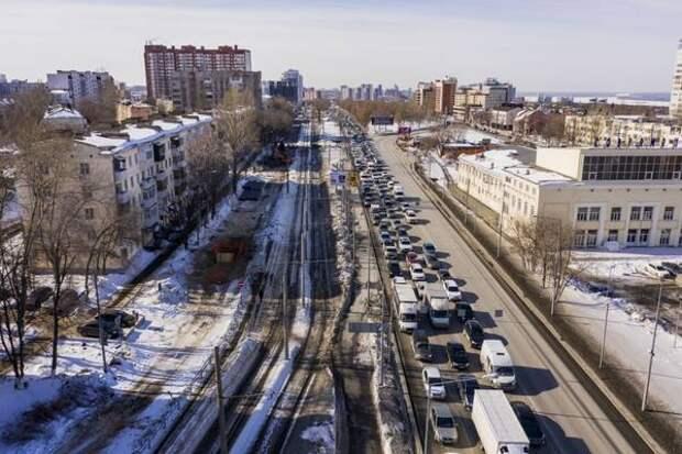 В Самаре на дублере улицы Ново-Садовой приступили к работам по расширению проезжей частидо 4-х полос