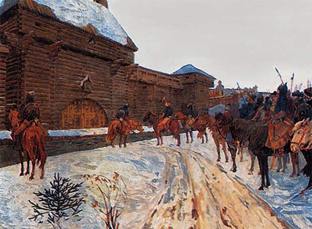 В. Максимов. Монголы у стен Владимира