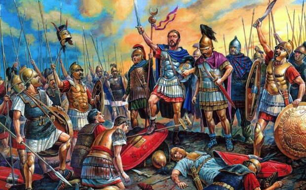 Карфагенские воины во главе с Ганнибалом празднуют победу в битве при Каннах, 216 год до н.э. - Мегаполис, стёртый с лица земли | Warspot.ru