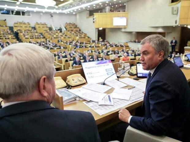 Володин: Число заболевших ковидом в Госдуме сократилось до минимума