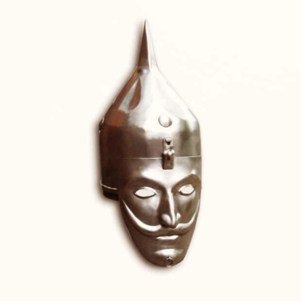 Реконструкция шлема-маски, обнаруженного при исследованиях кургана у села Липовцы (Винницкая область Украины)